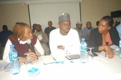 L-R Mrs Lolade Abiola, Mr Ahmad Salihijo, Mrs Anita Otubu