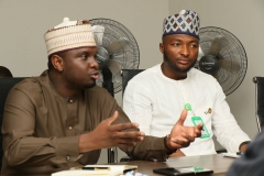REA MD/CEO Ahmad Salihijo and ED REF Dr. Sanusi Ohaire during the meeting