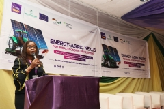Mrs. Yemisi Edun, Executive Director, Finance, FCMB, giving her keynote speech at the 'Energy-Agric Nexus for Rural Economic Development' held on the 26th & 27th November 2019