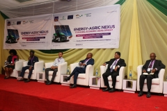 Engr. Owolabi, Matthew Olusegun of Fed. Min. of Agriculture & Rural Dev. speaking during plenary session one at the 'Energy-Agric Nexus for Rural Economic Development