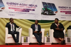 Oluyemi Rufai, Head, SME Advisory, FCMB, facilitating plenary session three at the 'Energy-Agric Nexus for Rural Economic Development