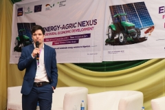 Joanis Holzigel, Rural Electrification, INENSUS GmbH, giving a presentation at the 'Energy-Agric Nexus for Rural Economic Developmen