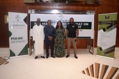 L-R: Engr. M.A Wasaram, ED Technical Service, Mr. Goddy Jedy Agba, HMSP, Damilola Ogunbiyi, MD REA and Dr Sanusi Ohiare