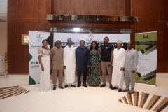 L-R: Solanke Abike (S.A to MD on Finance), Ayang Ogbe (Director of Promotion), M.A Wasaram (Executive Director Technical service), Goddy Jedy Agba (HMSP), Damilola Ogunbiyi (MD REA), Sanusi Ohiare (ED REF), Bolakale Kawu (Director Project) and Charles Ngene (Director Procurement)