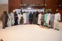 L-R: Ayang Ogbe (D-Promotion), Patrick Ubah (ZC-South East), Solanke Abike (SA to MD on Finance), Bala Danbatta (ZC North west), Adejoke Odumosu(Head PMU), Mathew Onwusoh (Head Perf. Management), Rhoda Mando (Head Audit), M.A Wasaram (ED TS), Amina Sugha (Head Legal), Goddy Jedy Agba (HMSP), Damilola Ogunbiyi (MD REA), Sanusi Ohiare (ED REF), Bolakale Kawu (D-Project), Rose Udoh (ZC SouTH South), Owoyomi Ademola (ZC South west), Ahmed Lawan (ZC North East), Charles Ngene (D-Procurement) and Mohammed Salau (ZC North Central)