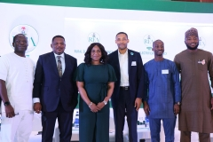 L-R;Specialist ,Energy Sector Policy and Regulation,African Development Bank,Dozie Okpalaobieri, Minister of State Power,Mr Goddy Jedy-Agba,OFR,Managing Director /CEO Rural Electrification Agency,Mrs Damilola Ogunbiyi,  Head Project Management Unit Nigeria Electrification Project -AFDB,Kenny Anuwe,Vice President Project Rensource Energy,Kolawole Akinboye and Executive Director .Rural Electrification Fund,REA,Dr. Sanusi Ohiare  during the Rural Electrification  Energizing Education Programme female Stem Workshop in Lagos