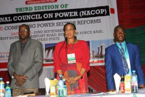 MD/CEO, Damilola Ogunbiyi during her appearance at the 3rd edition (2017) of National council on Power (NACOP), held at Jos, Plateau State