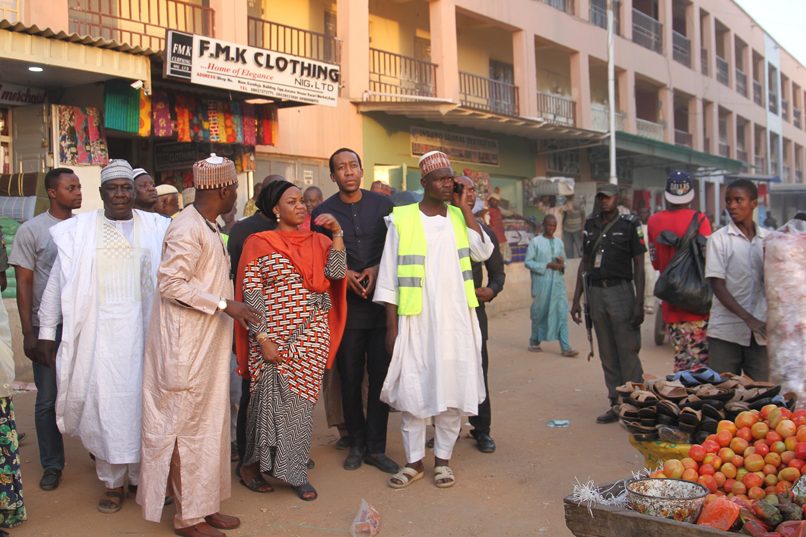 Inspection of the First Phase of 500 Electrified Shops under the Federal Government of Nigeria Energizing  Economies Initiatives at  Sabon- Gari  Market , Kano State, 7th February, 2018