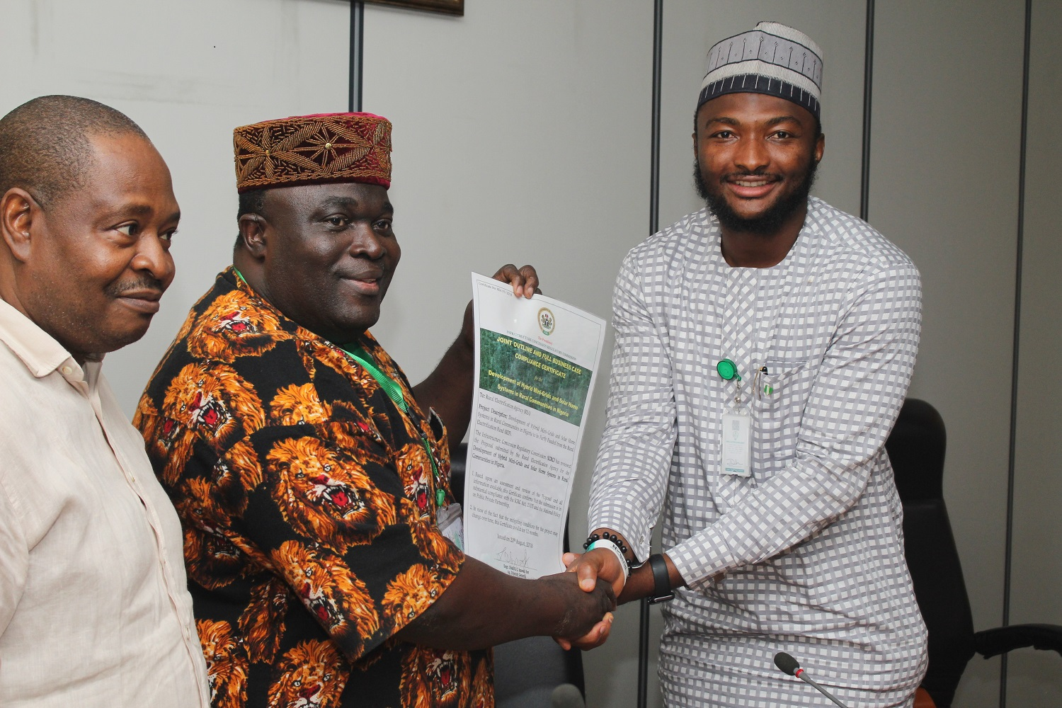 Rural Electrification Agency awarded a Certificate of Compliance in accordance with the ICRC Act, 2005 & the National Policy on PPP for the deployment of Mini-grids and SHS