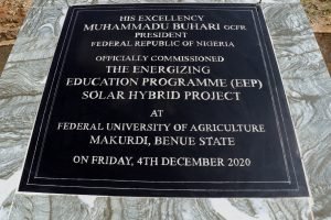 Commissioning of Makurdi EEP Solar Hybrid Project Federal University of Agriculture, Makurdi